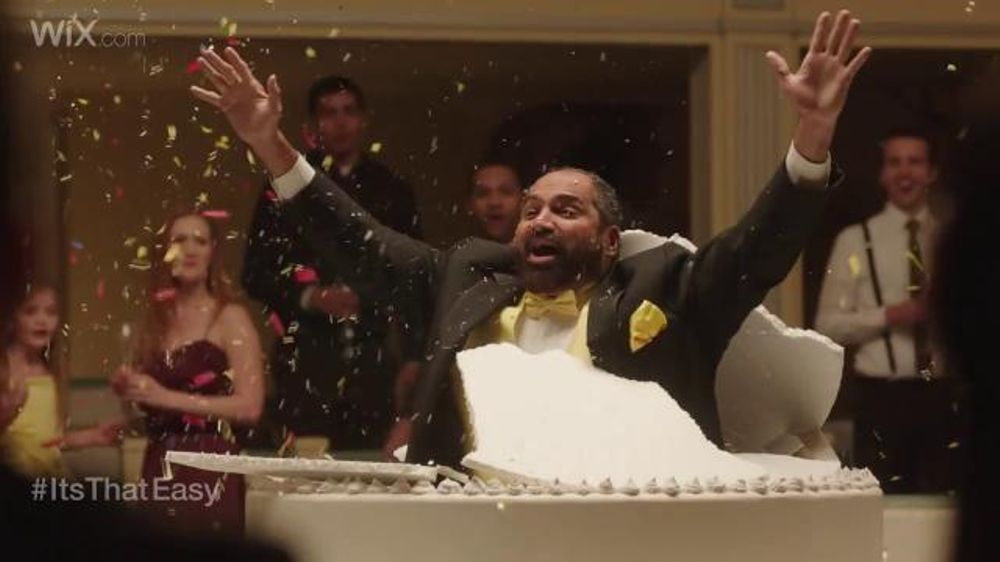 Wix.com: Franco Harris Jumping Out of Cake