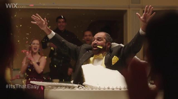 Wix.com Super Bowl Campaign TV Spot, 'Franco Harris Jumping Out of Cake' - Thumbnail 4