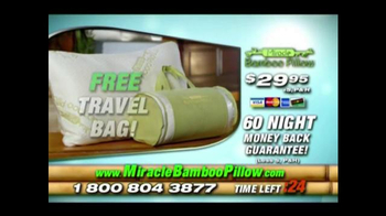 Miracle Bamboo Pillow TV Spot, 'Better Night Sleep' - Thumbnail 9