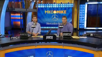 Mercedes-Benz Super Bowl 2015 Teaser TV Spot, 'Mike & Mike Debate Big Race' - Thumbnail 2