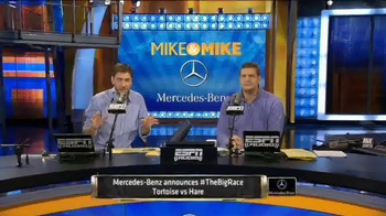 Mercedes-Benz Super Bowl 2015 Teaser TV Spot, 'Mike & Mike Debate Big Race' - Thumbnail 3