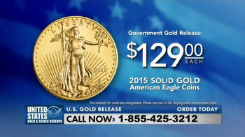 The United States Mint 2015 American Eagle Coins TV Spot, 'Solid Gold' - Thumbnail 3