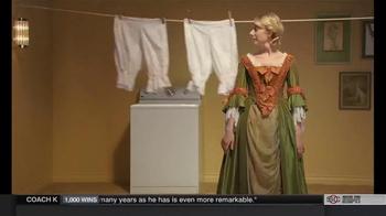 Clorox Splash-Less Bleach TV Spot, 'Martha Washington's Inaugural Gown' - Thumbnail 7