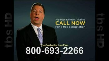 GoldWater Law Firm TV Spot For Hip Repalcement