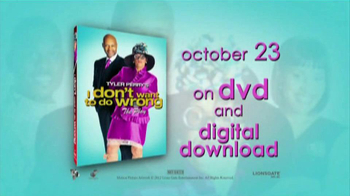 Tyler Perry's I Don't Want to Do Wrong DVD TV Spot
