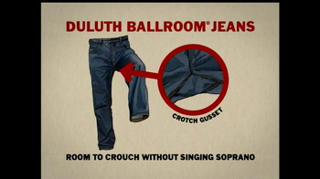 Duluth Ballroom Jeans TV Spot, 'Crouching in Average Jeans' - Thumbnail 8