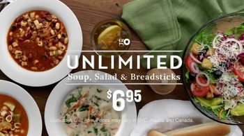 Olive Garden Unlimited, Salad and Breadsticks TV Spot, 'Go' - 173 commercial airings
