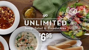 Olive Garden Unlimited, Salad and Breadsticks TV Spot, 'Go' - Thumbnail 9