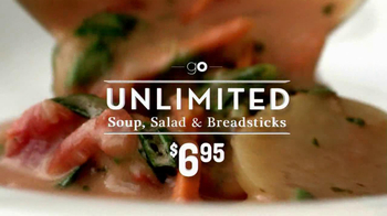 Olive Garden Unlimited, Salad and Breadsticks TV Spot, 'Go' - Thumbnail 3