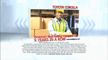 2012 Toyota Corolla TV Spot, 'People Who Know Cars' - Thumbnail 4