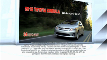2012 Toyota Corolla TV Spot, 'People Who Know Cars' - Thumbnail 6