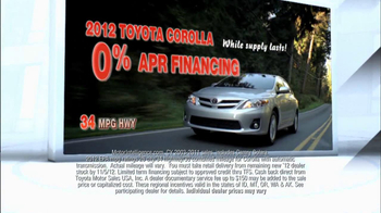 2012 Toyota Corolla TV Spot, 'People Who Know Cars' - Thumbnail 7