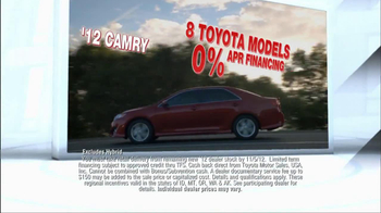 2012 Toyota Models TV Spot, 'People Who Know Cars' - Thumbnail 6