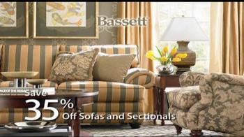 Bassett Columbus Day Sale TV Spot