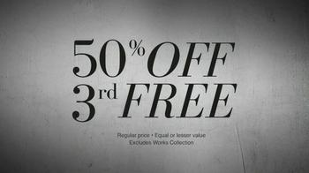 JoS. A. Bank TV Spot, '50% Off 3rd Free' - Thumbnail 5