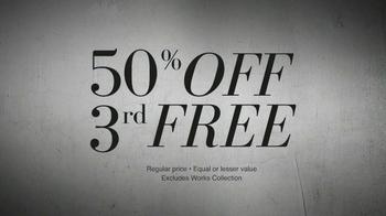 JoS. A. Bank TV Spot, '50% Off 3rd Free' - Thumbnail 6