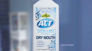 ACT Fluoride Total Care Dry Mouth TV Spot, 'Uncomfortable'