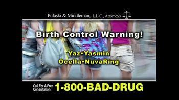 Pulaski & Middleman TV Spot, 'Birth Control Injuries'