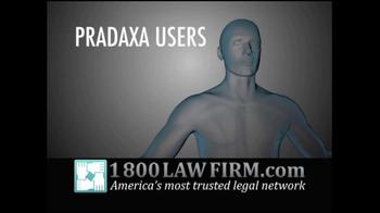 1-800 LAW FIRM TV Spot, 'Pradaxa' - Thumbnail 1