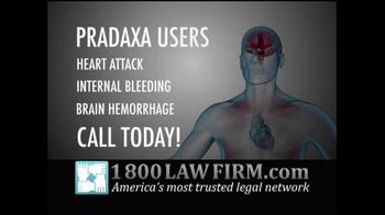 1-800 LAW FIRM TV Spot, 'Pradaxa' - Thumbnail 4