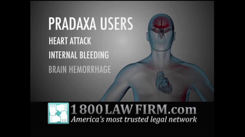1-800 LAW FIRM TV Spot, \'Pradaxa\'