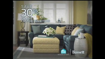 Bassett TV Spot, 'Custom Furniture Sale'