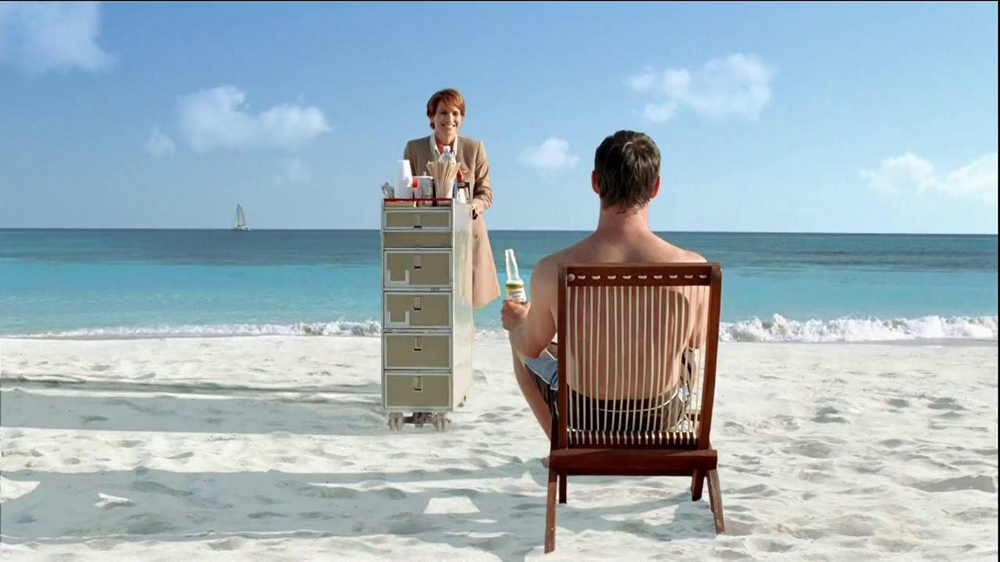 Corona Extra TV Commercial, 'Beach Flight Attendant'