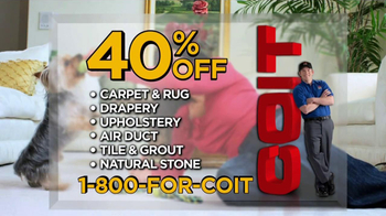 COIT TV Spot '40% Off Carpet'