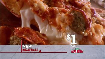 Papa John's Meatball and Pepperoni Pizza TV Spot, 'Taste of Italy' - Thumbnail 3