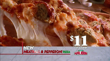 Papa John's Meatball and Pepperoni Pizza TV Spot, 'Taste of Italy' - Thumbnail 4