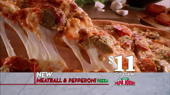 Papa John's Meatball and Pepperoni Pizza TV Spot, 'Taste of Italy' - 278 commercial airings