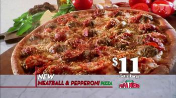 Papa John's Meatball and Pepperoni Pizza TV Spot, 'Taste of Italy' - Thumbnail 7