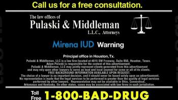 Pulaski & Middleman TV Spot, 'Mirena IUD' - Thumbnail 6