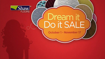 Shaw Flooring TV Spot, 'Dream it Do it Sale'