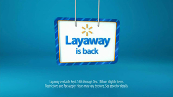 Walmart Layaway TV Spot, 'Getting Started' - Thumbnail 9