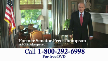 American Advisors Group TV Spot, 'Difficulties' Featuring Fred Thompson - Thumbnail 1