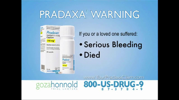 Goza Honnold Trial Lawyers TV, 'Pradaxa Call Center' - Thumbnail 1
