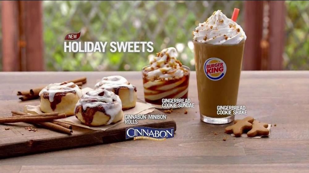 Burger King Cinnabon Minibon Rolls and Ginbread Cookie Treats TV Spot
