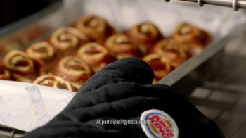 Burger King Cinnabon Minibon Rolls and Ginbread Cookie Treats TV Spot - Thumbnail 2