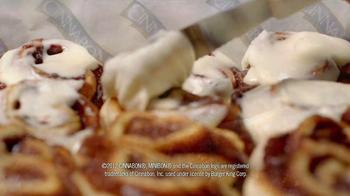 Burger King Cinnabon Minibon Rolls and Ginbread Cookie Treats TV Spot - Thumbnail 5
