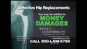 Weitz and Luxenberg TV Spot, 'Defective Hip Replacements'