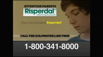 Goldwater Law Firm TV Spot, 'Risperdal'