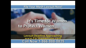Steelman and McAdams TV Spot, 'Mesh Lawsuit' - Thumbnail 1
