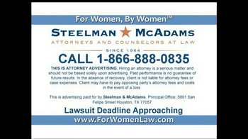 Steelman and McAdams TV Spot, 'Mesh Lawsuit' - Thumbnail 5