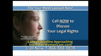 Steelman and McAdams TV Spot, 'Mesh Lawsuit' - Thumbnail 3