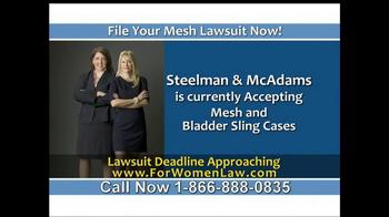 Steelman and McAdams TV Spot, 'Mesh Lawsuit' - Thumbnail 4