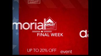 Ashley Furniture Homestore Memorial Day Event TV Spot, 'The Final Week' - Thumbnail 1