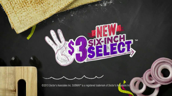 Subway Oven Roasted Chicken TV Spot, '$3 Select' - Thumbnail 9