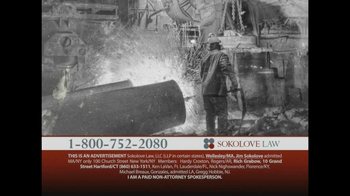 Sokolove Law TV Spot, 'Workers: Mesothelioma'