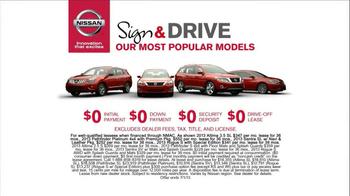 Nissan Sign & Drive Sales Event TV Spot, 'Signature' - Thumbnail 7